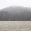 Der winterliche Schlossberg von Westen gesehen.