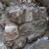 Rekonstruierter Bereich der Mauerschale zur statischen Sicherung.