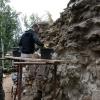 Sanierung der oberen Bereiche der Mauerspeise.