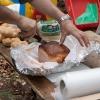 Reichhaltige Verpflegung für die hungrigen Helfer.