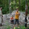 Geschicklichkeitsübung mit dem Schwert