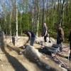 Freilegungsarbeiten an der entdeckten Ringmauer.