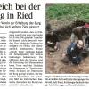 Bericht zur Grabung, NÖN, Oktober 2015