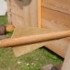 Befiederung des Ballistengeschosses aus Pergament