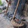 Die Feuerstelle im Burghof
