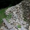 Fortsetung der Trockensteinmauer
