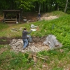 Wiedereinfüllen des Schnittes im Burghof