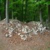 Deutlich ausgelichtete Steinhaufen