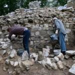 Sanierung am Bergfried