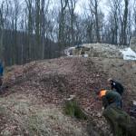 Abgetragener Steinhaufen