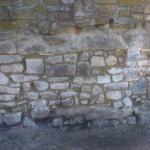 Pfarrgartenmauer nach Abschluss der Sanierung