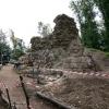 Bereits teilweise Sanierung der Mauerspeise und Mauerschalenbereiche mitte September.