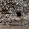 Rekonstruktion des abgegangenen Balkenlochs.