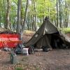 Die wetterfeste Unterkunft im Burghof.