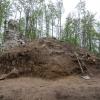 Überblick über die Grabung an der Turmruine.