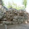 Freigelegte Mauerschale am Rundturm.