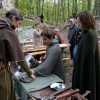 Kleine und große Gäste konnten sich selbst an Kettenhemden und Helmen des 13. Jh. probieren.