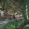 Steinweitwurfstation im Burggraben