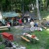 Impressionen, Burghof und Lagerfeuer