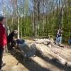 Besucher konnten live die archäologischen Grabungsarbeiten mitverfolgen.