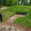Grabungschnitt im Burghof